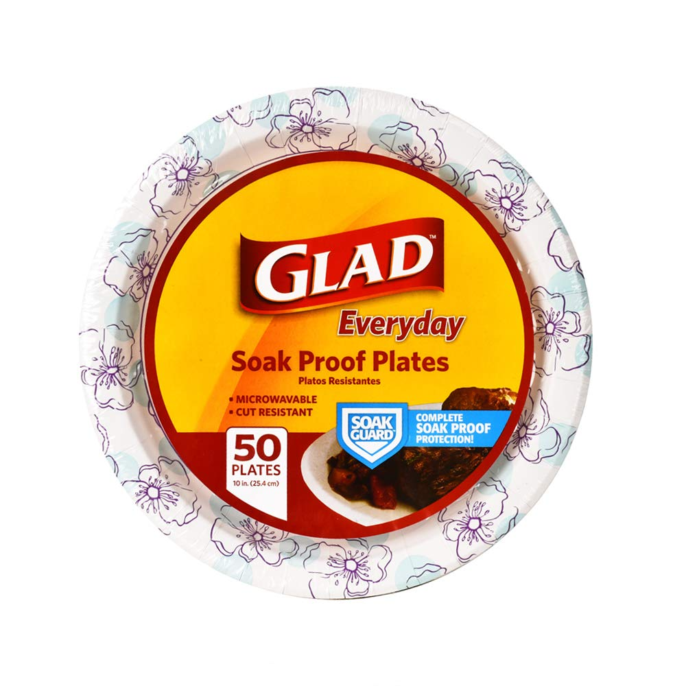 Glad Round Disposable Paper Plates